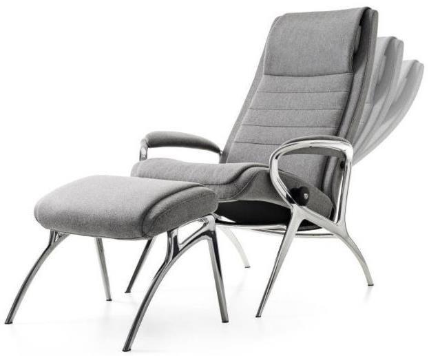 Stressless Stressless YouJohn Chair & Ottoman with Aluminum Base