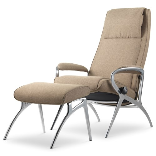 Stressless by Ekornes Stressless You James Reclining Chair and Ottoman with Plus-system™
