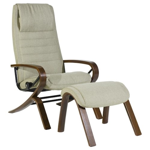 Stressless by Ekornes Stressless You John Reclining Chair and Ottoman with Aluminum Base