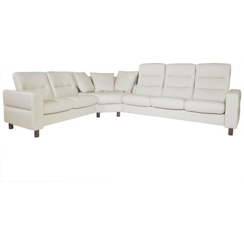 Stressless by Ekornes Wave 3 Piece Sectional