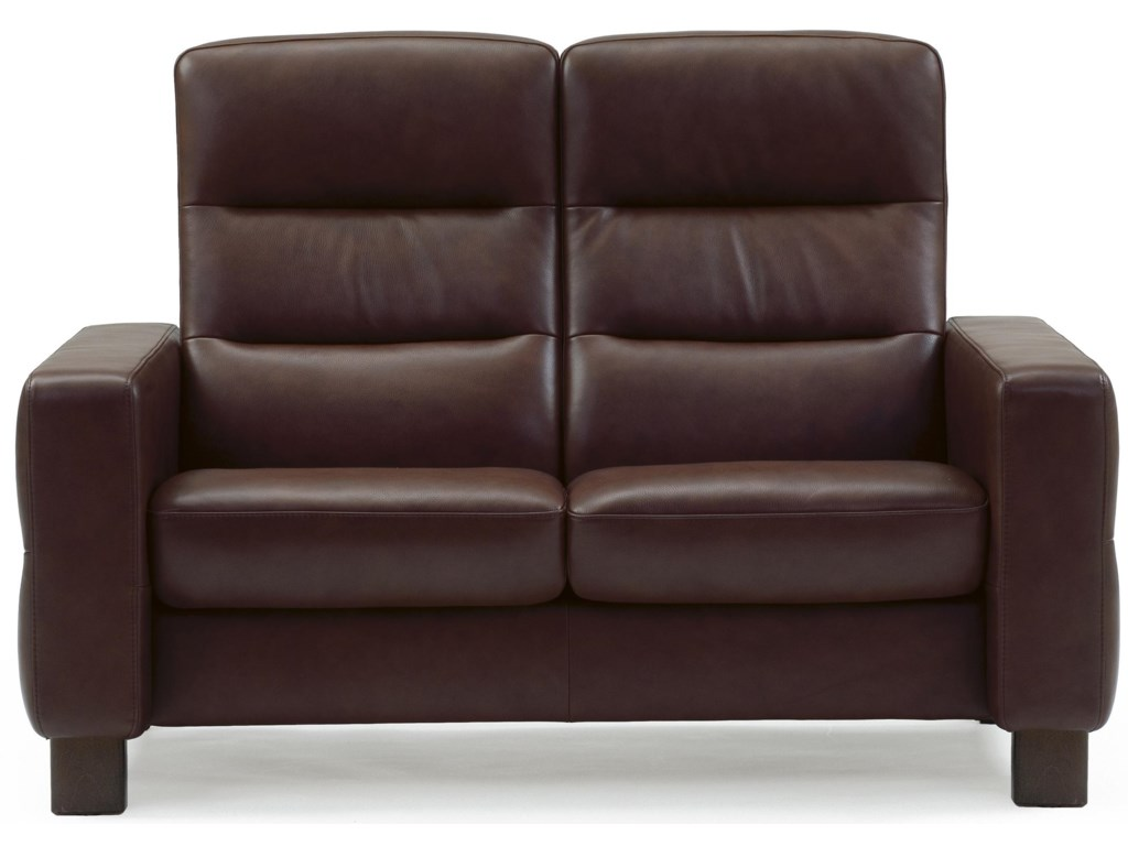 Stressless WaveHigh-Back Reclining Loveseat