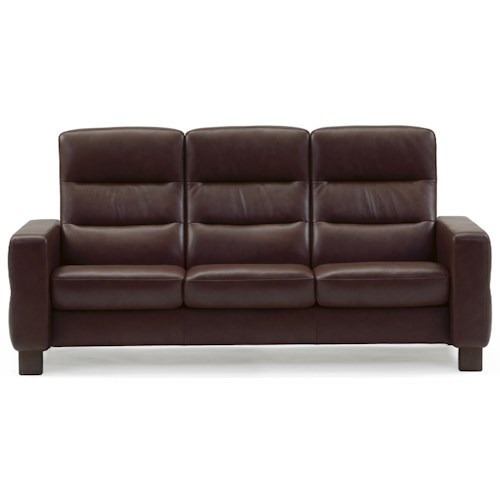 Stressless by ekornes wave 3 seater theater sofa conlin 39 s furniture theater seating Loveseat theater seating