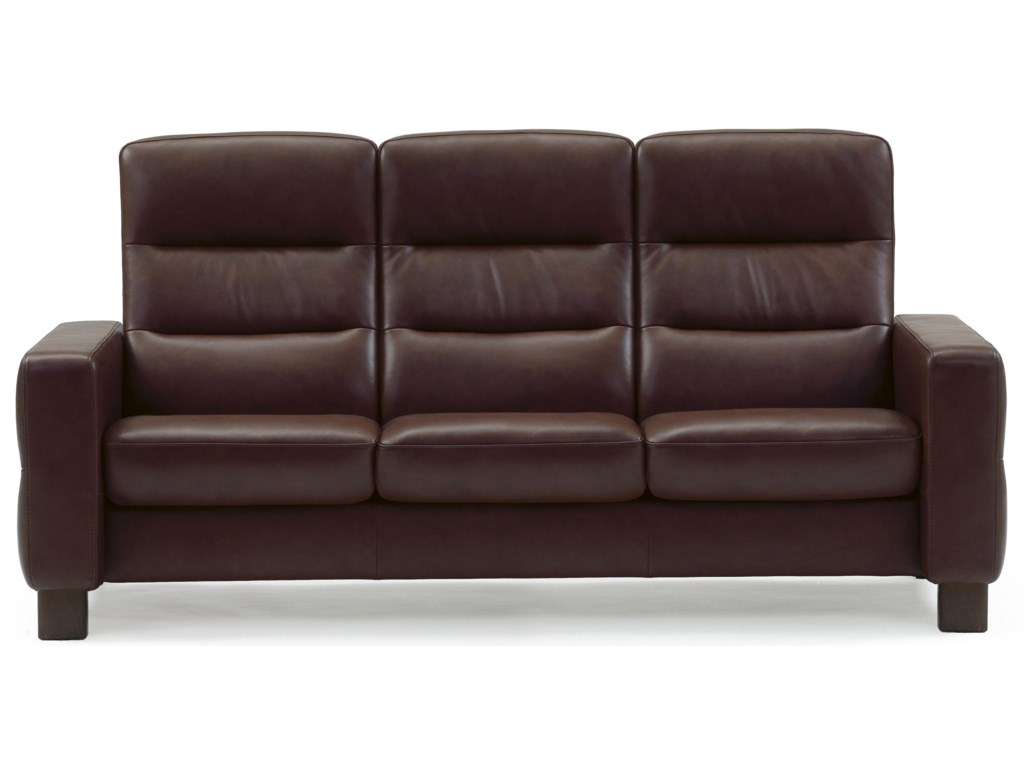 Stressless WaveHigh-Back Reclining Sofa