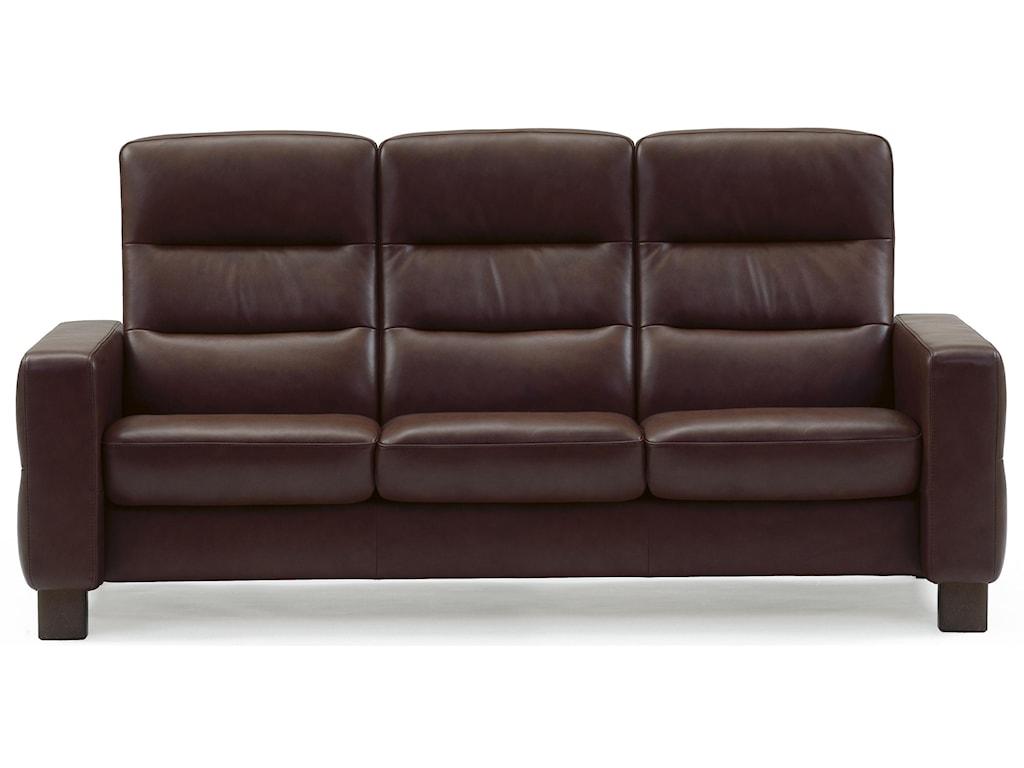 Stressless WaveHigh-Back Reclining Sofa