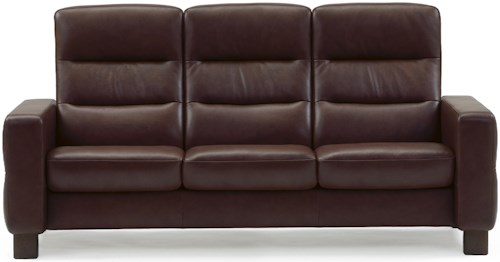 Stressless by Ekornes Wave 3 Seater Theater Sofa