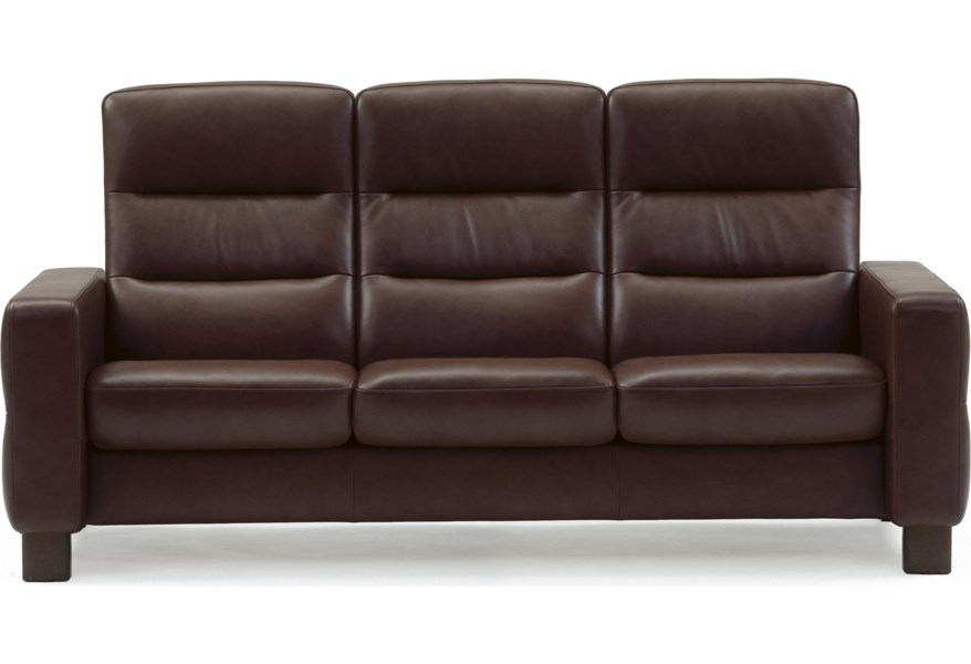 Wave High-Back Reclining Sofa by Stressless at Dunk & Bright Furniture