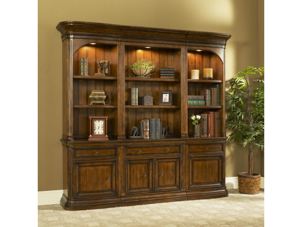 Office Solutions Winsome Home OfficeStraight Bookcase with Left & Right Piers