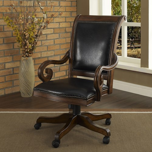 office solutions winsome home office traditional leather executive arm chair with nailhead trim