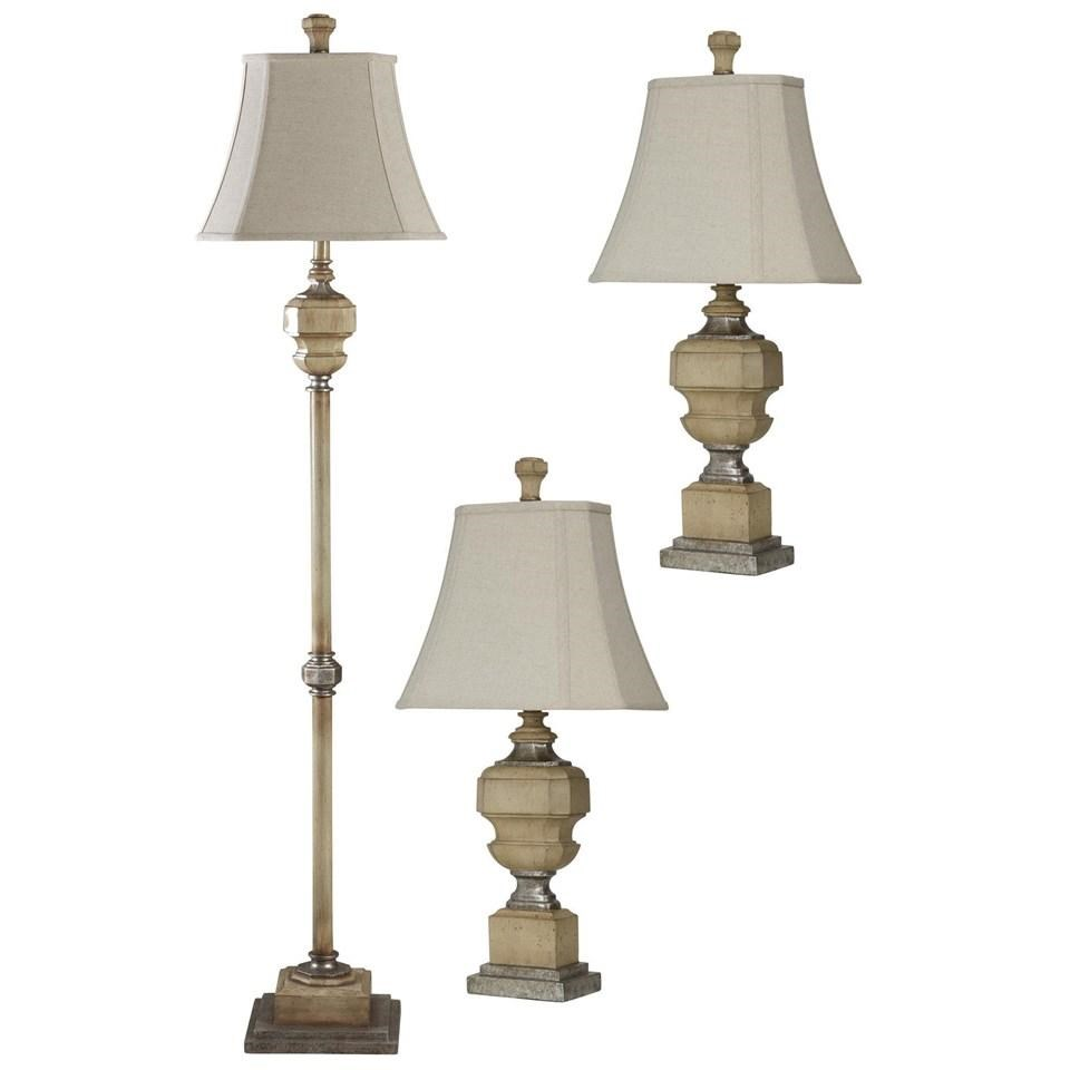StyleCraft Lamps Set Of 3 Lamps: Antique Caramel