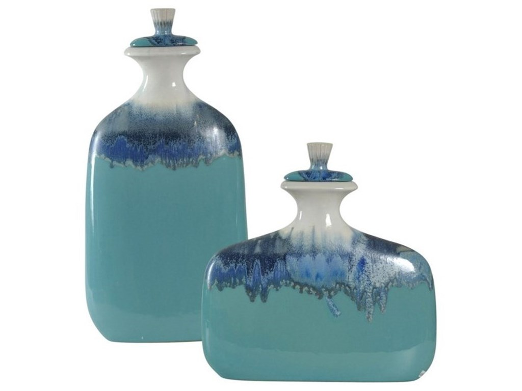 StyleCraft AccessoriesSet of Two Ceramic Jars