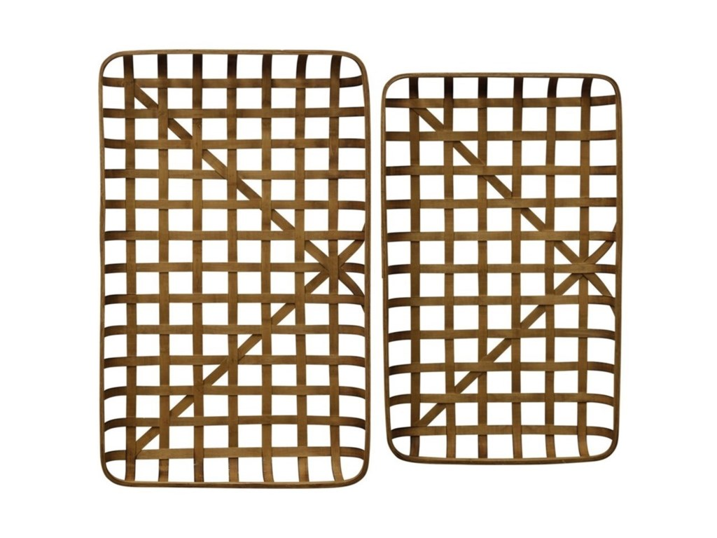 StyleCraft AccessoriesSet of Two Bamboo Trays