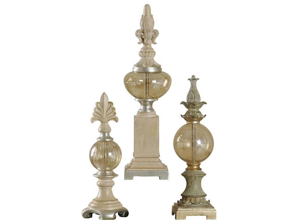 StyleCraft AccessoriesSet of 3 Decorative Finials