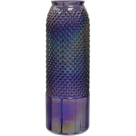"""Diamond Stud Violet Pearl 17"""" Vase"""