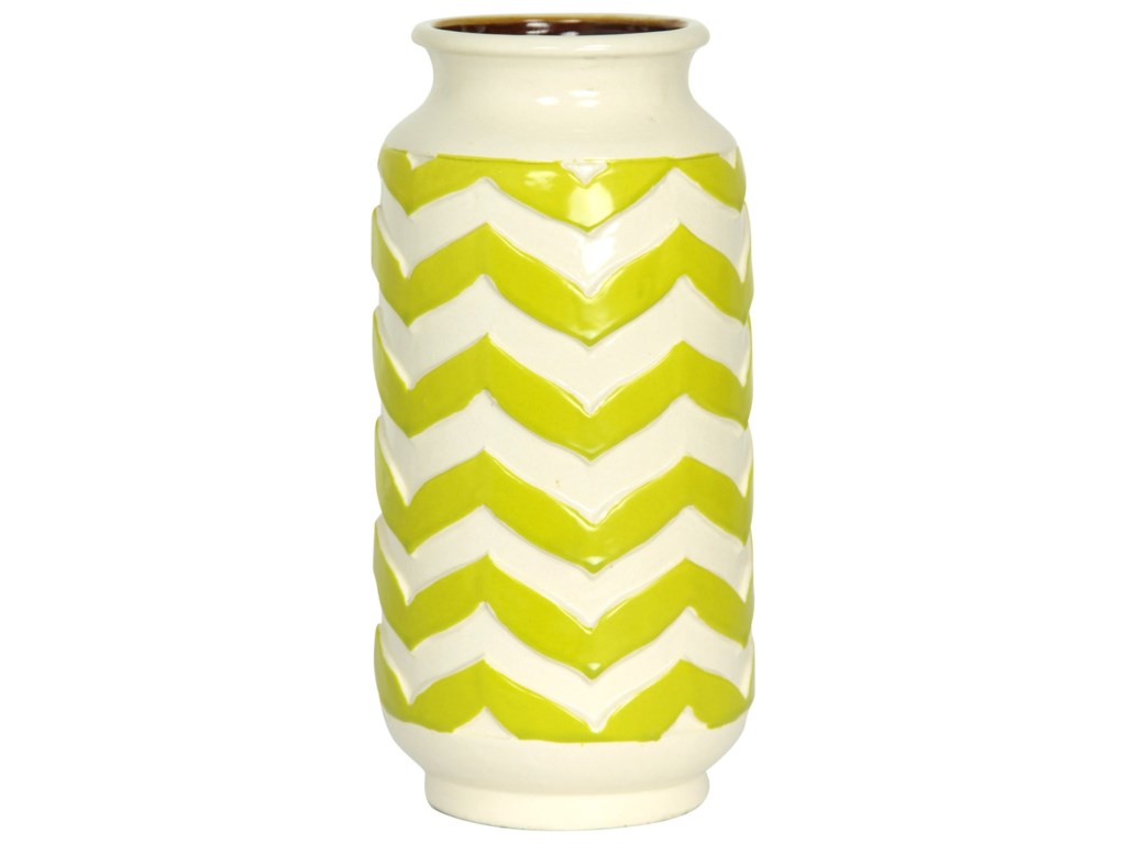 StyleCraft AccessoriesChevron Striped Ceramic Vase