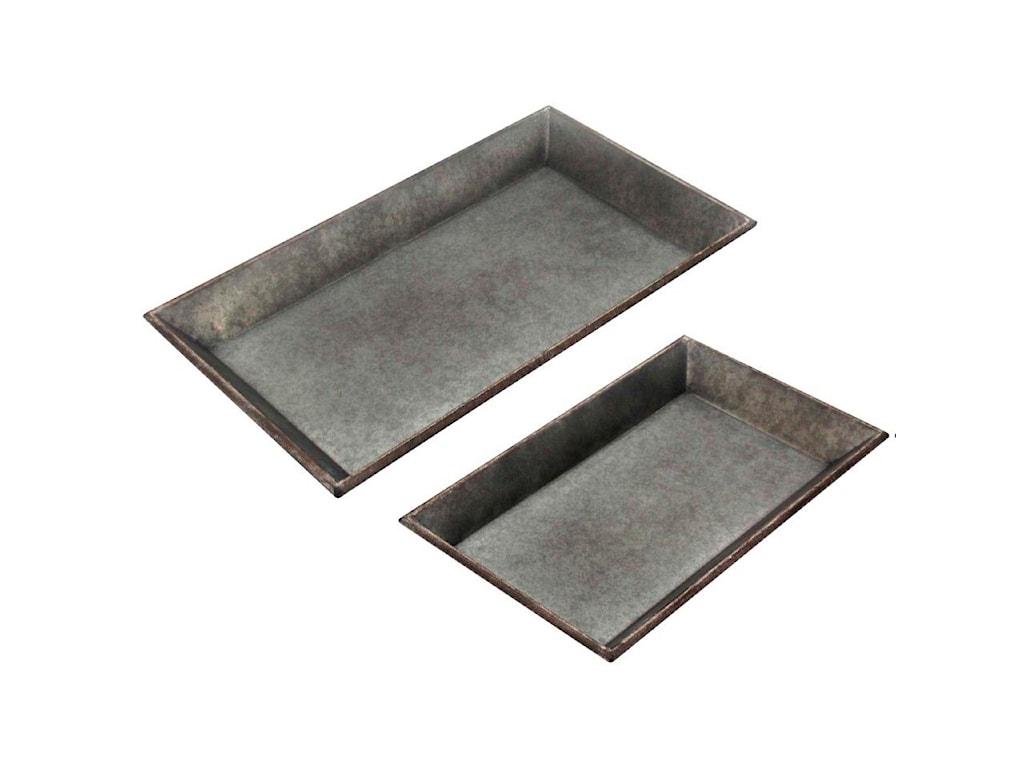 StyleCraft AccessoriesSet of 2 Metal Trays