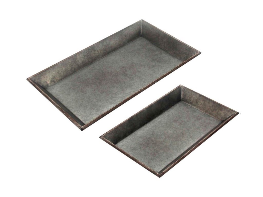 StyleCraft AccessoriesSet of 2 Metal Trays