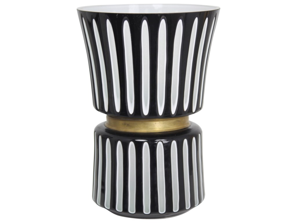 StyleCraft AccessoriesBlack and White Ceramic Vase