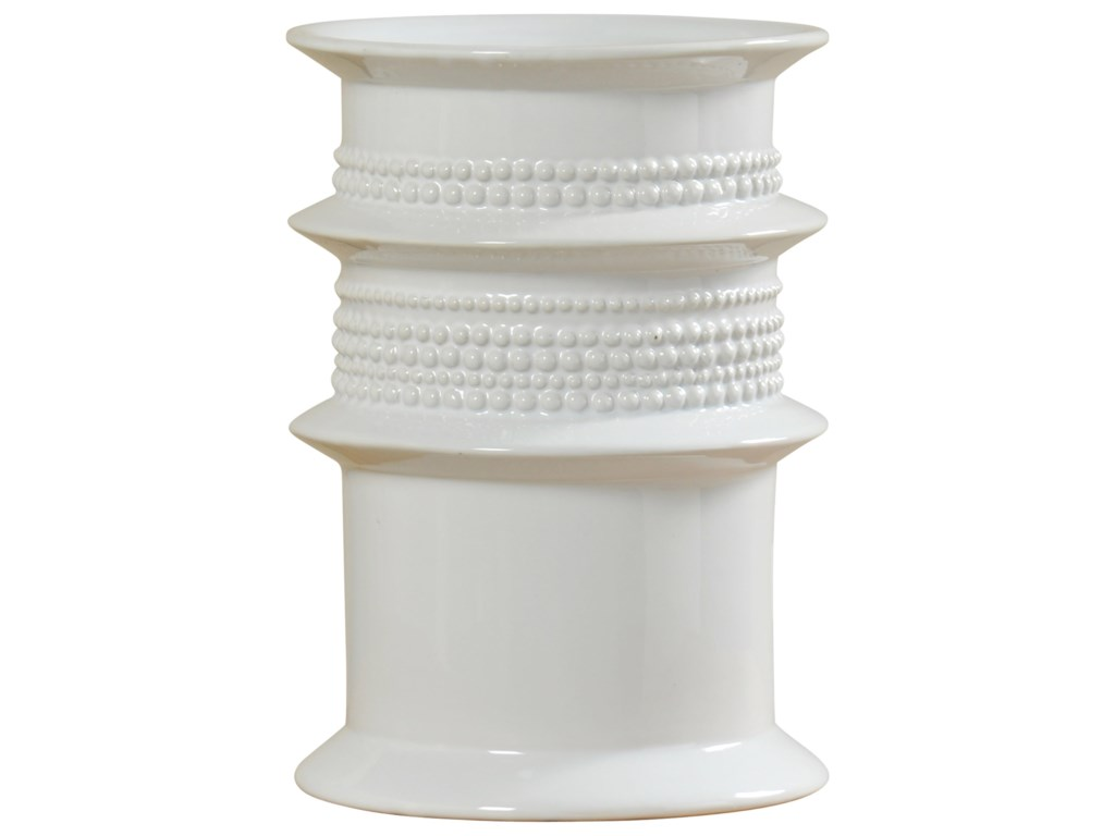 StyleCraft AccessoriesWhite Ceramic Vase