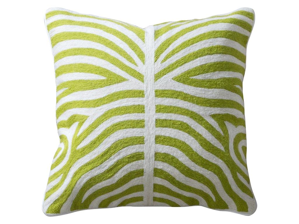 StyleCraft AccessoriesGreen and White Accent Pillow