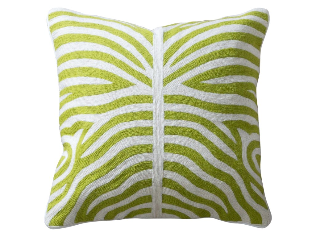 StyleCraft AccessoriesGreen and White Accent Pillow