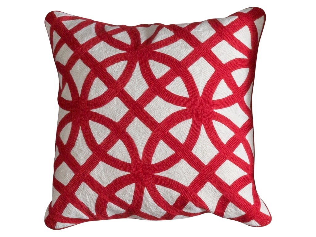 StyleCraft AccessoriesRed and White Accent Pillow