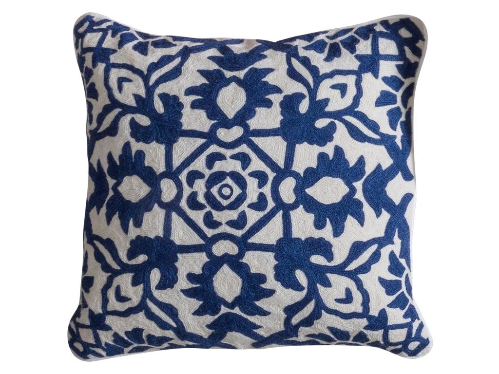 StyleCraft AccessoriesBlue and White Accent Pillow