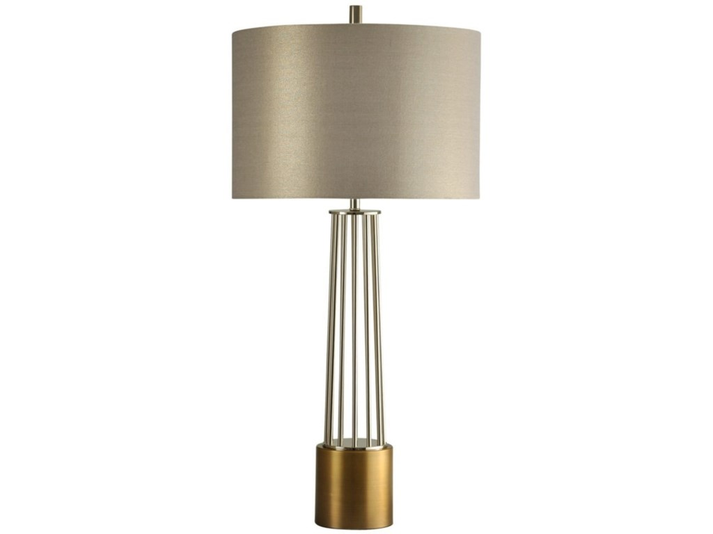 Lamps Br Metal Table Lamp By Stylecraft At Household Furniture