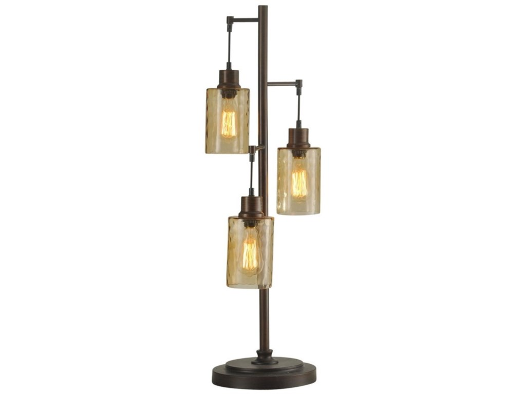 Stylecraft Lamps L312571 Table Lamp With Glass Shades And Edison