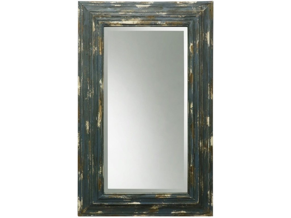 StyleCraft Accessories Weathered Wooden Frame Mirror | Aladdin Home ...