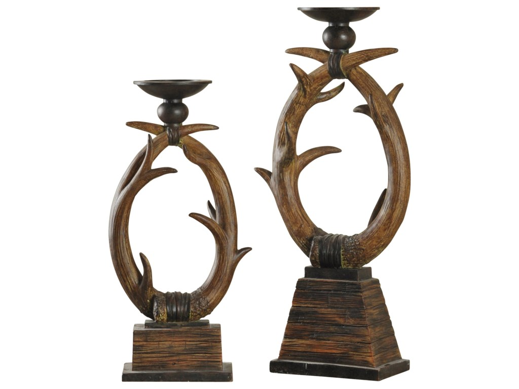 StyleCraft AccessoriesSet of Two Antler Candle Holders