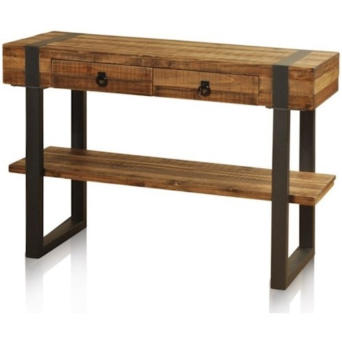 Stylecraft Accessories Console Table With 1 Shelf 2 Drawers And