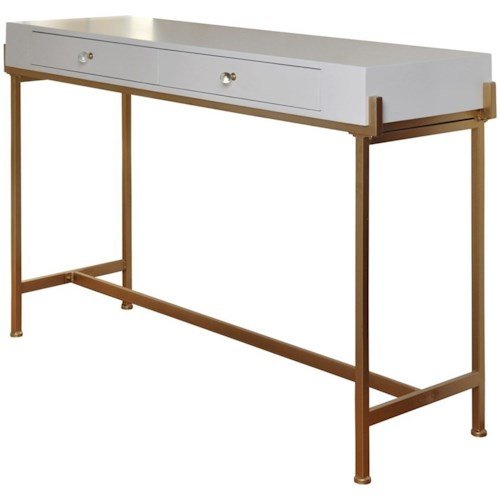 Stylecraft Accessories Console Table With 2 Drawers And An Antique