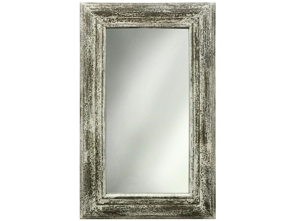 StyleCraft AccessoriesWhite Weathered Mirror