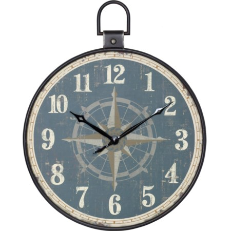 Aged Pocket Watch Style Wall Clock