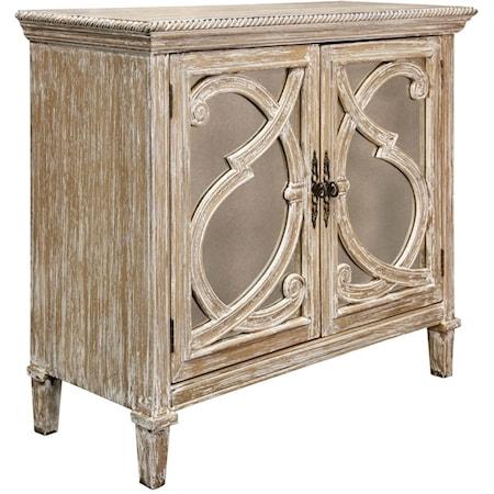 Nappa 2 Door Antique Mirrored Cabinet