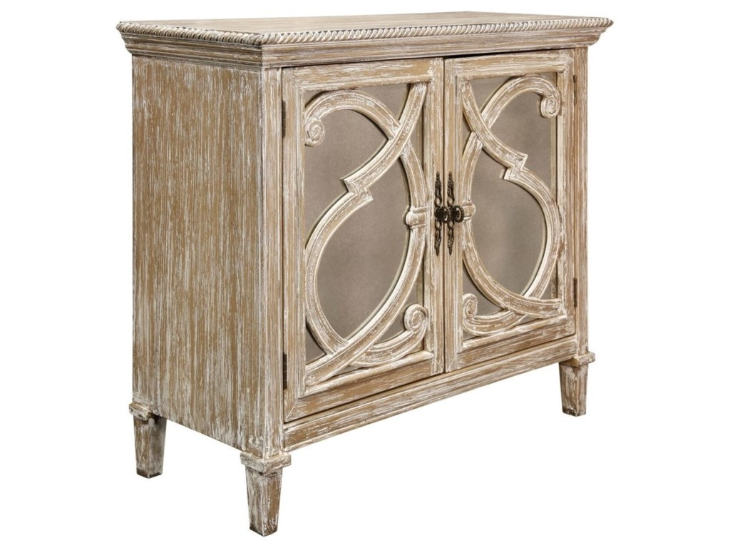StyleCraft Occasional CabinetsNappa 2 Door Antique Mirrored Cabinet