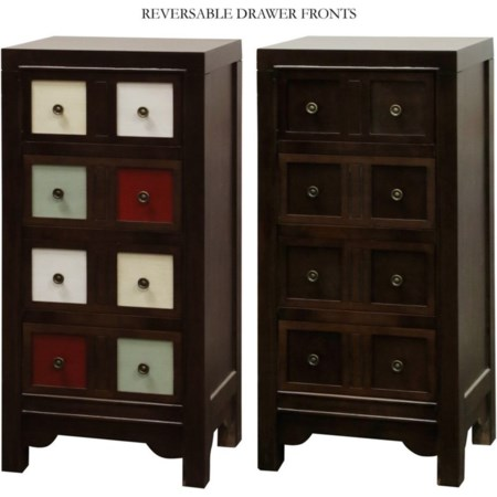 Accent Chest with Reversible Drawer Fronts