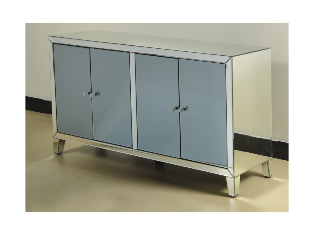 Stylecraft cabinets - Occasional Cabinets Grand Clear Mirrored Credenza Miskelly Furniture Accent Chests