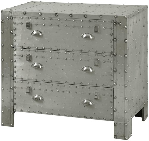 StyleCraft Occasional Cabinets Industrial 3 Drawer Chest