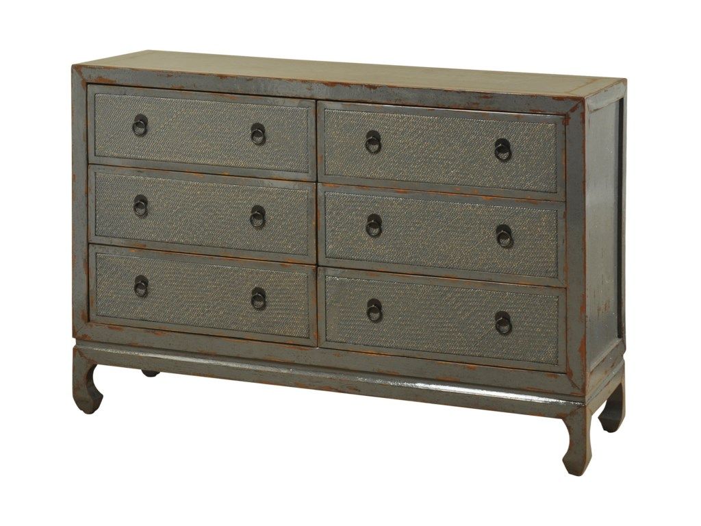 StyleCraft Occasional CabinetsAntique Six Drawer Dresser - StyleCraft Occasional Cabinets SF24447 Oriental Antique Six Drawer