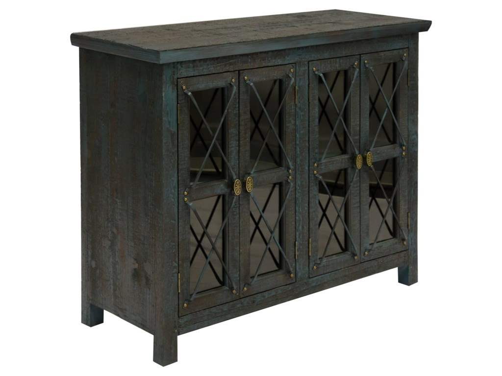Stylecraft occasional cabinets four door industrial chest