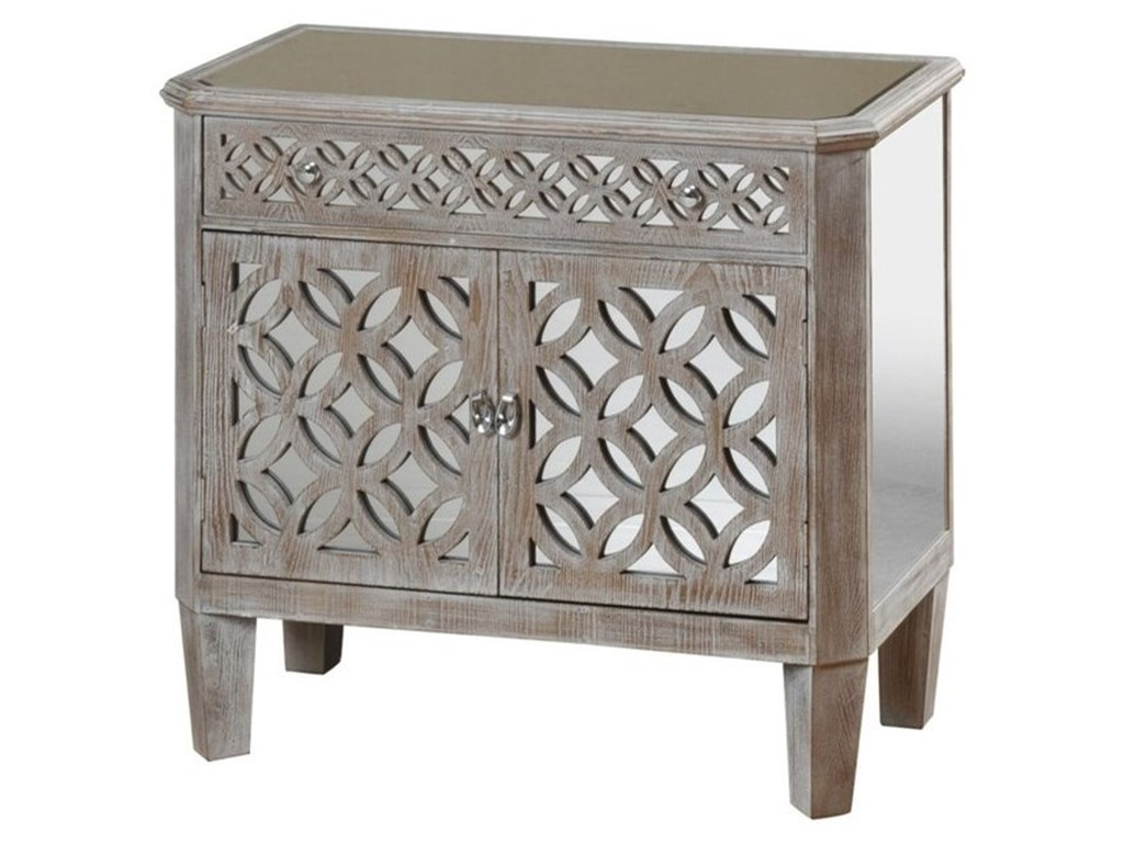 Stylecraft occasional cabinetsmirrored filigree chest