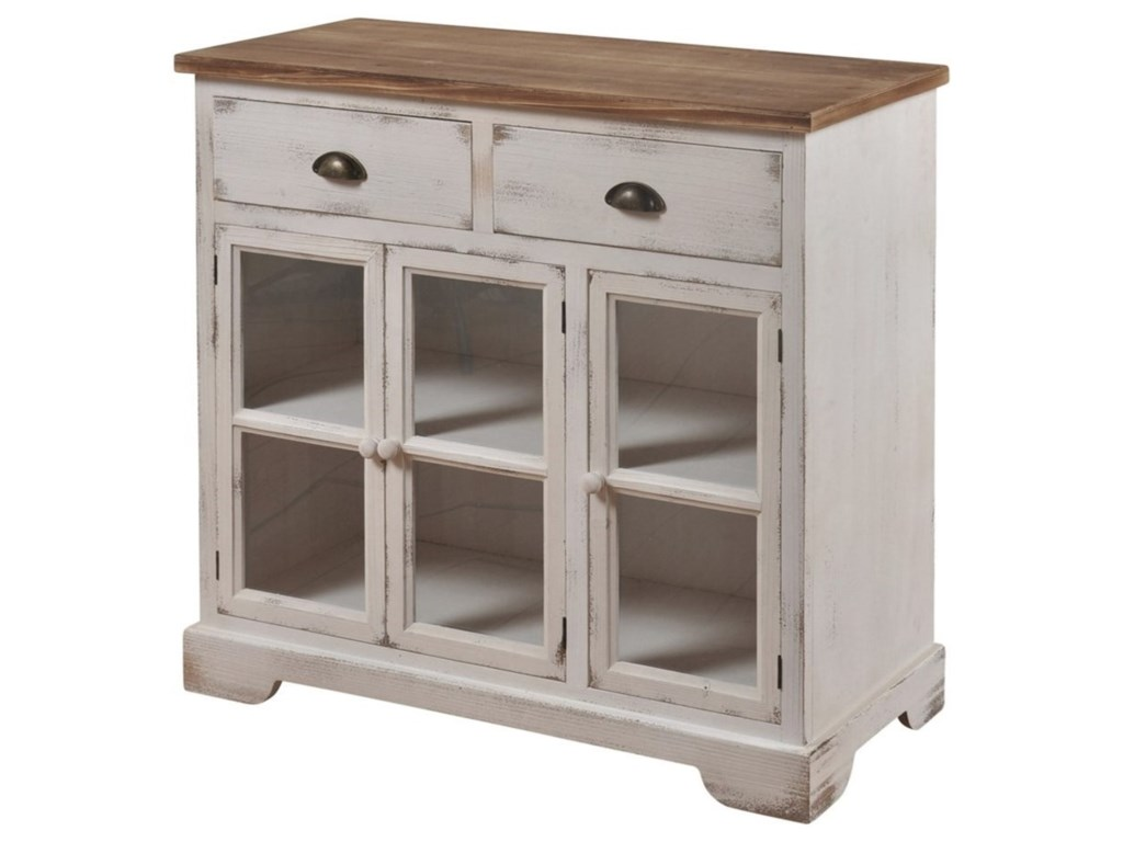 StyleCraft Occasional CabinetsShabby Chic 3 Door 2 Drawer Cabinet