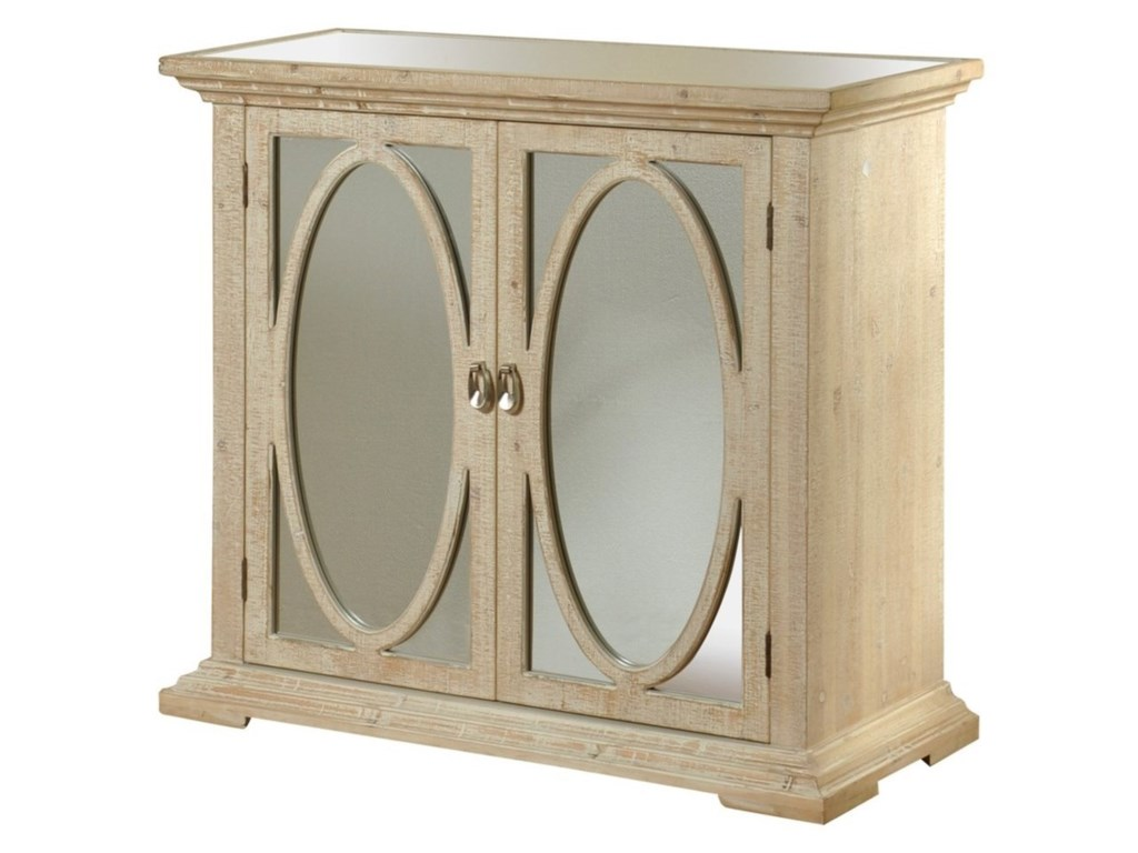 Stylecraft Occasional Cabinets Sf25124 Oval Ring Door Cabinet With