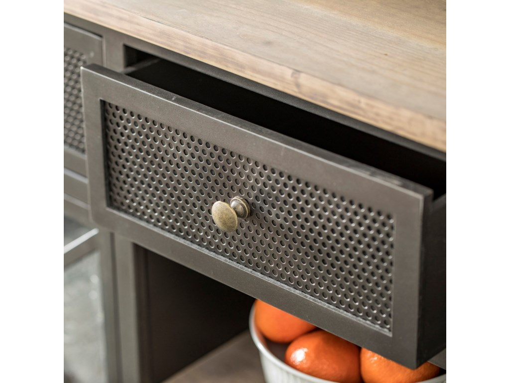StyleCraft Occasional CabinetsBlack Metal Farmhouse Buffet