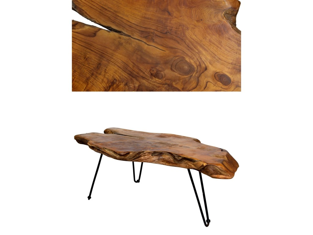 StyleCraft Occasional TablesBadang Carving Natural Teak Coffee Table