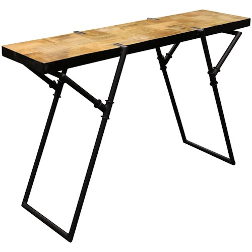 industrial sofa table with metal pipe base occasional tables by