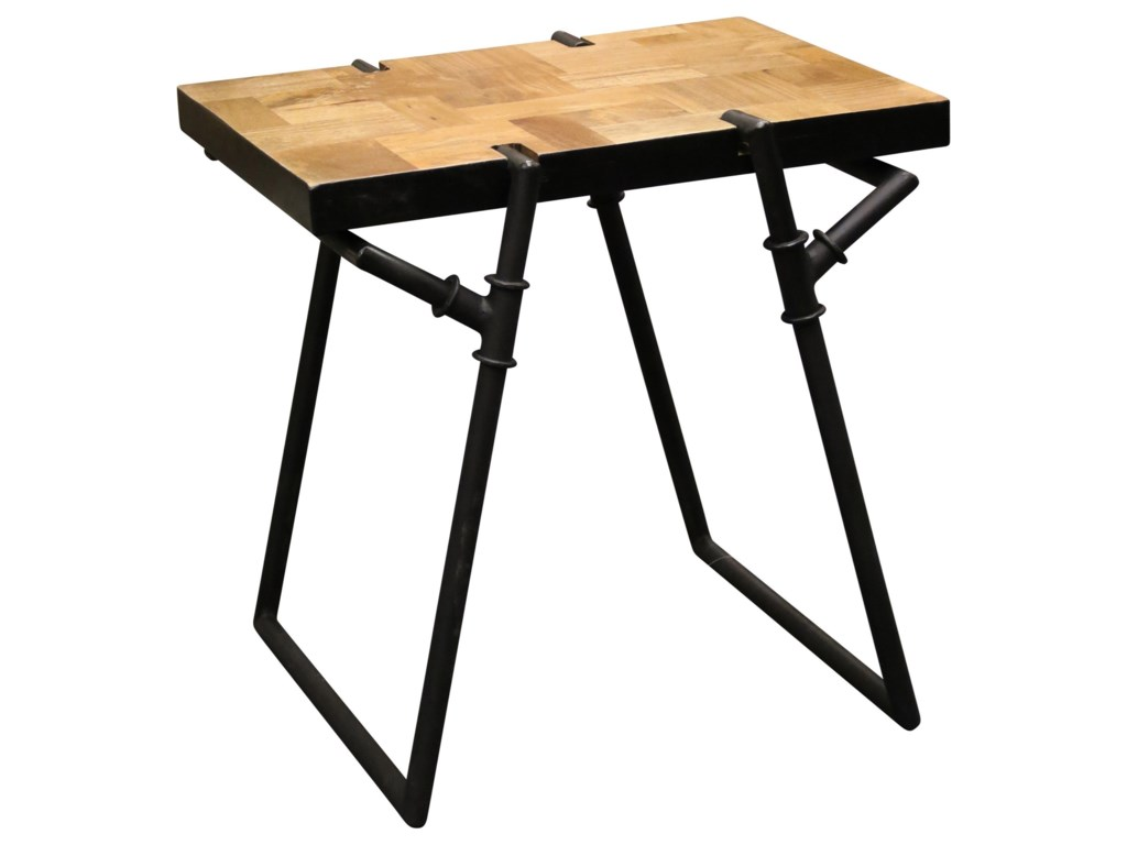 stylecraft occasional tables industrial side table with metal pipe