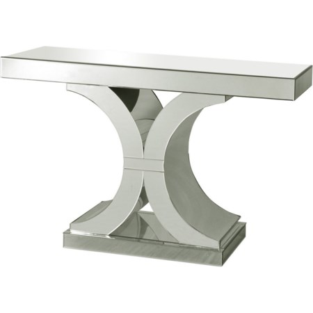 Chanel Clear Glass Console Table