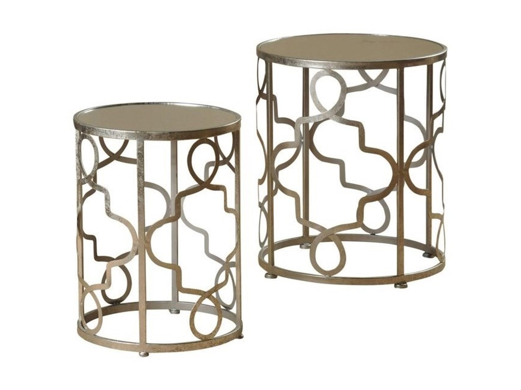 StyleCraft Occasional TablesSet of 2 Silver Leaf End Tables